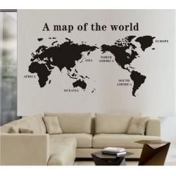 Muurstickers Wereldkaart 1