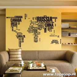 Muurstickers Wereldkaart 2