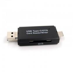 USB, Micro USB & USB Type C Kaartlezer voor SD & MicroSD(HC/XC) Geheugenkaarten.