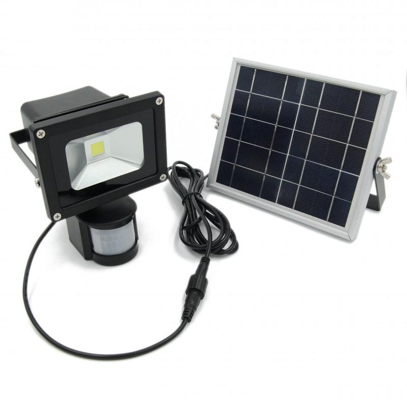 Solar Schijnwerper. Buitenlamp met zonnepaneel.